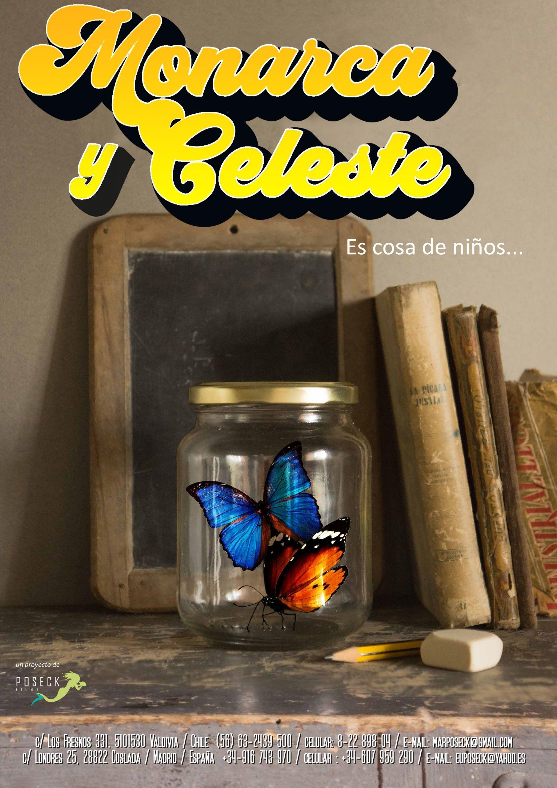 Boceto del cartel de Monarca y Celeste-Poseck Films