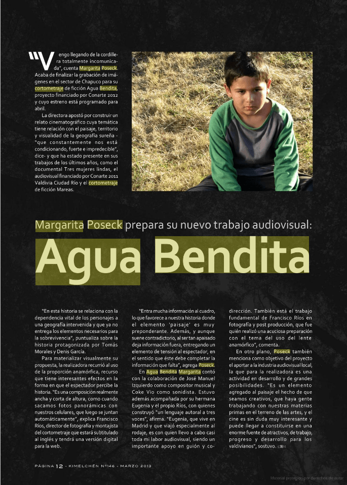 Revista Kimelchen-Agua Bendita
